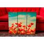 Set De Cuadros Tripticos Flores Vintage Retro. Paisajes