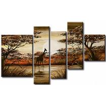 Cuadros Paisajes Africanos Modernos Tripticos Pintados