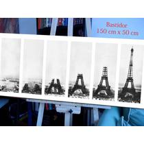 Lamina Torre Eiffel En Bastidor Lienzo 150x50