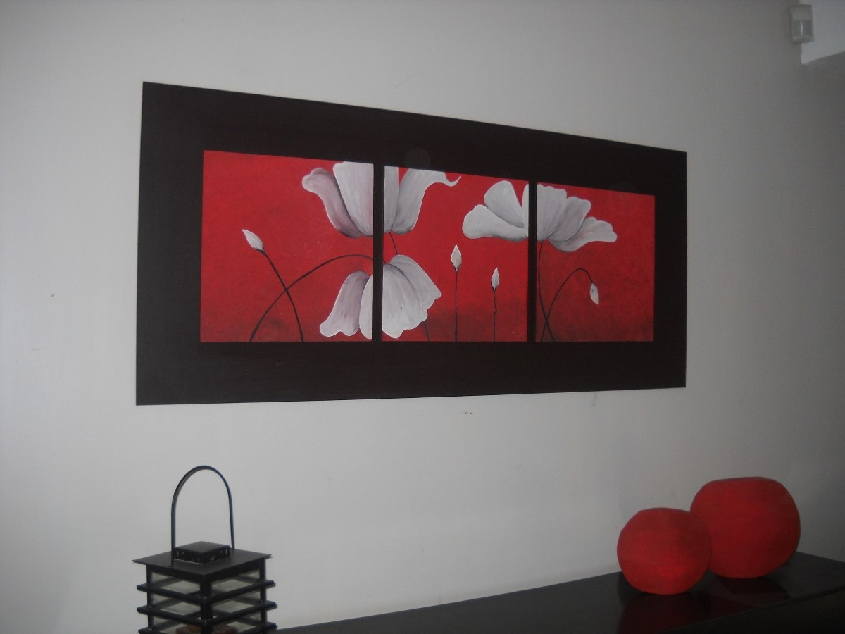 cuadros de flores pintados a mano images