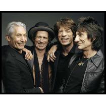 Rolling Stones Cuadro Enmarcado 1 X 0.70 Metros