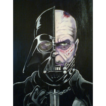 Darth Vader, Pintura Sobre Madera 45 X 60 Cms, Obra Original