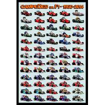 Formula 1 Campeones 1950 Al 2014 Cuadro Enmarcado 45 X 30cm
