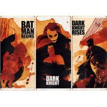 Batman Cuadro Triptico The Dark Knight Trilogia