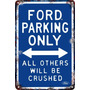 Carteles Antiguos Chapa 60x40 Parking Only Ford Truck Pa-94