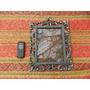 Muy Lindo Antiguo Porta Retrato Marco En Peltre ? Con Vidri