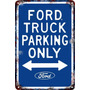 Carteles Antiguos Chapa 60x40 Parking Only Ford Truck Pa-93