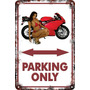 Carteles De Chapa 60x40 Parking Only Moto Racing Pa-92