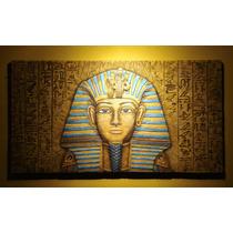 Cuadro En Relieve Egipcio Tutankamon Con Jeroglificos