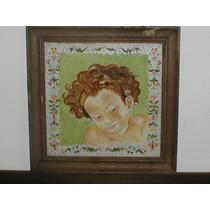 Cuadro Angel De Porcelana Pintado A Mano