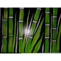 Cuadro Bambu Verdes