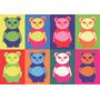 Lamina De Osos Panda Impreso En Ilustración De 300 G, 90x62