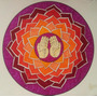 Cuadro De Mandalas En Tela Canvas Con Bastidor 80x80
