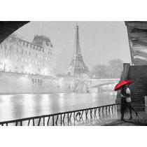 Torre Eiffel Enamorados Tela Canvas Bastidor De 70x50 Cm