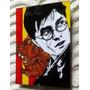 Cuadro Pintado A Mano Sobre Vidrio Harry Potter