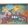 Cuadro Pintura Colorida Sobre Hardbord (14f)