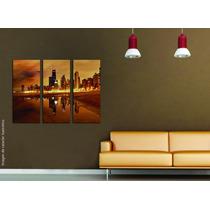 Cuadros Impresos Tripticos, Tela Canvas 60x50cm Ciudades!
