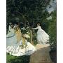 Claude Monet Damas En El Jardin Lamina Holandesa 33 X 37 Cm