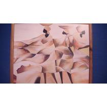 Cuadro Lamina Motivo Africano Enmarcado Usado Sano Decorativ