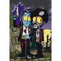 Pulp Fiction Comic En Tela Canvas Bastidor De 70x50 Cm
