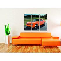 Cuadros Impresos Tripticos, Tela Canvas 35x30cm Autos!