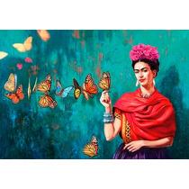 Frida Kahlo Bastidor En Canvas De 100x70 Cm Envio S/c Caba