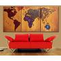 Cuadros Decorativos Mapamundi Living Mapa Mundo Planisferio