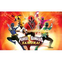 Power Rangers Samurai 70x45 Cm En Tela Canvas Exelente