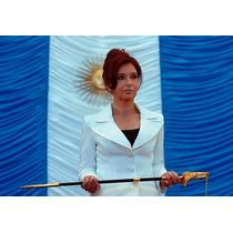 Cristina Kirchner Cfk Bastidor 90x60 Cm Exelente- Envio S/c