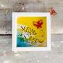 Lettering Acuarela Mariposa Cuadro De Diseño Con Volumen