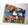 Cuadros Romero Britto - Mickey & Minnie Mouse - Arte Pop -