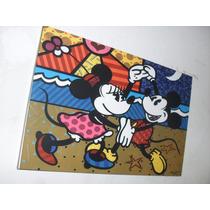 Cuadros Romero Britto - Mickey & Minnie Mouse - Arte Pop -