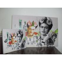 Cuadro Frida Kahlo En 27x42