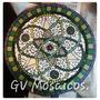 Mandala 30 Cm En Mosaico -cuadro- Azulejos Venecitas