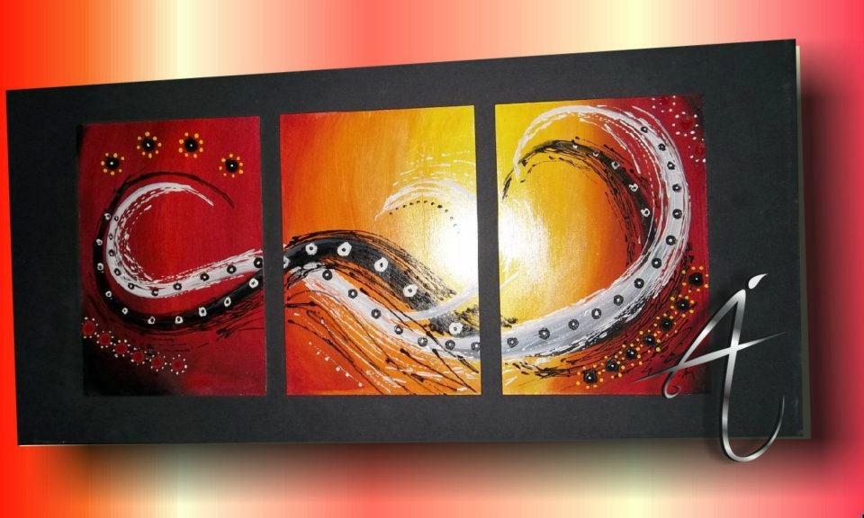 Cuadros Tripticos , Dipticos Abstractos - $ 390,00 en MercadoLibre