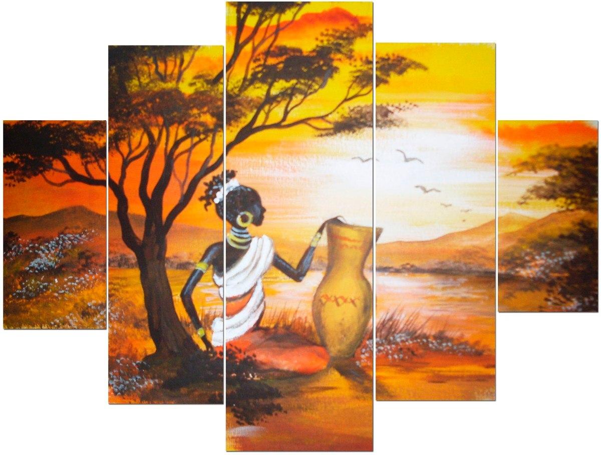 Cuadros modernos tripticos polipticos paisajes africanos - Cuadros modernos ...