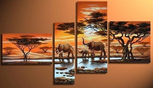 Cuadros de africanas modernos imagui for Cuadros tripticos grandes