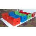Repisa Estante Infantil Muebles Cubos Baules