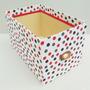 Caja De Fibrofácil. Forrada Con Tela. Diseño Y Decoración.
