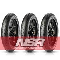 Cubierta Fz 16 Pirelli 100 80 17 Diablo Rosso Rouser Cbx Nsr