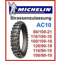 Cubierta 110 100 18 Michelin Ac10 Oeste Neumaticos