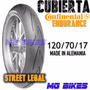 Cubierta Contirace Attack Endurance 120/70-17 Alema Mg Bikes