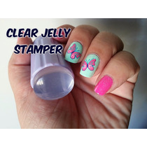 Lote De 12 Clear Jelly Stamper