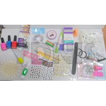 Kit Completo 35 Art Decoracion Uñas Manicuria Neceser Ydnis