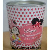 Souvenir Minnie Mouse Alcancias De Lata Con Tapa Desmontable