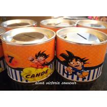 Souvenir Dragon Ball Alcancias Con Tapa Desmontable De Lata
