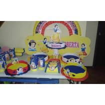 Golosineros, Centro De Mesa, Piñata, Blancanieves, Los 7 E