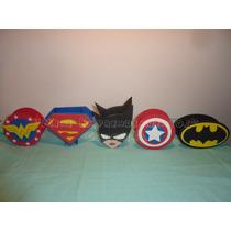 5 Golosineros Souvenirs Superheroes En Goma Eva