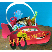 Bolsitas Infantiles Pocoyo Toy Story Cars Mickey En Goma Eva