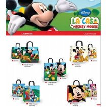 Bolsa Cumpleaños Regalo Disney Mickey Minnie Kitty 45x48(x1)
